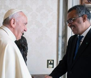 HH Pope Francis and WHO Director General